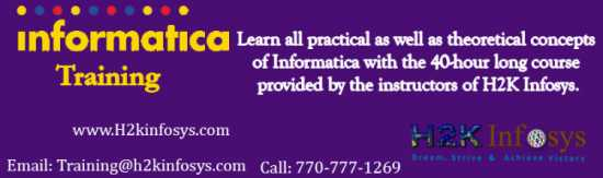 Informatica Online Training Classes and Job Assist